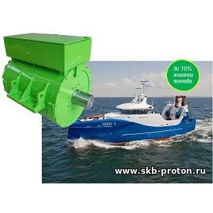Гребная энергетическая установка рыболовецкого судна MDV1 Immanuel
