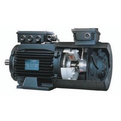 Асинхронный электродвигатель серии LSMV Leroy-Somer для частотного регулирования с электромагнитным тормозом