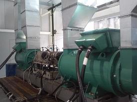 Испытательный стенд гидрообъемных передач гусеничных бронированных машин мощностью 900 кВт